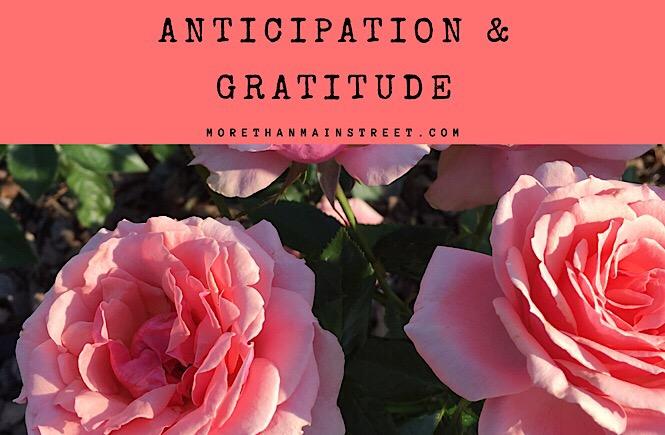 Anticipation and Gratitude