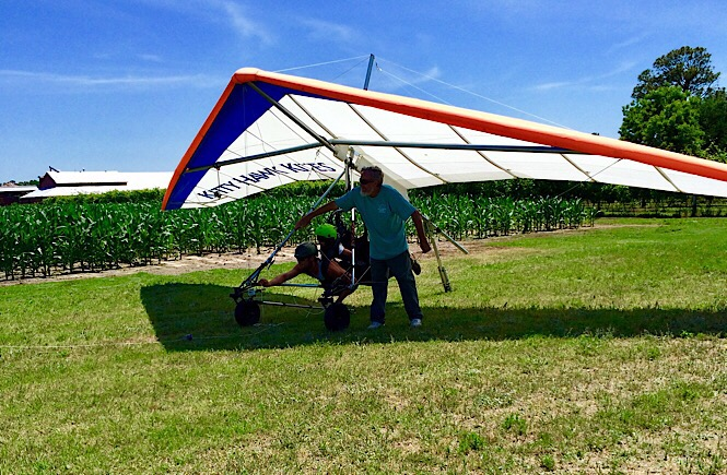 Explore NC's outer banks from the air- try hang gliding!