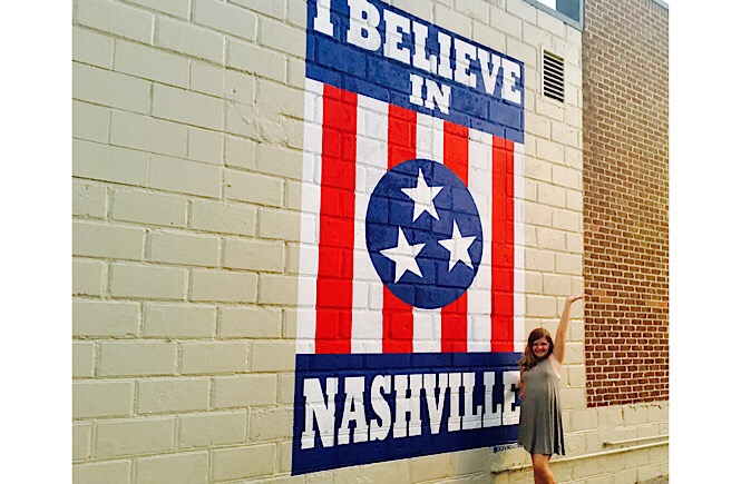 Best Things to Do in 12 South Neighborhood Nashville TN featured by top US affordable travel, More Than Main Street: I Believe in Nashville wall mural in Nashville's 12 south neighborhood