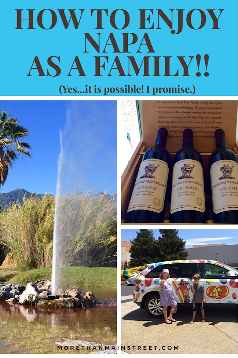 Fun things to do in Napa with kids as featured by top US family travel blog, More than Main Street.