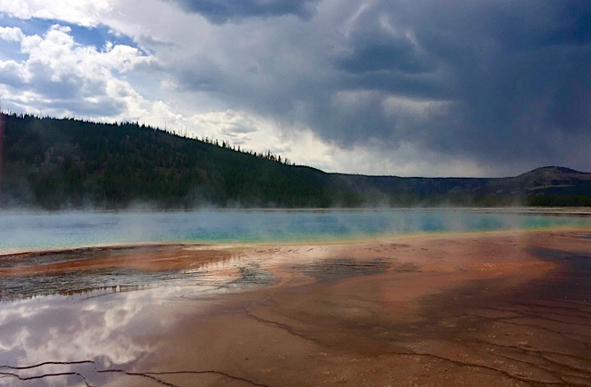 The Ultimate Road Trip to Yellowstone & Jackson Hole WY featured by top US family travel blog, More Than Main Street: Grand Prismatic Yellowstone National Park- road trip yellowstone