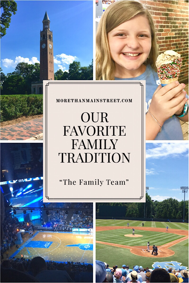 Our Favorite Family Tradition: The Family Team