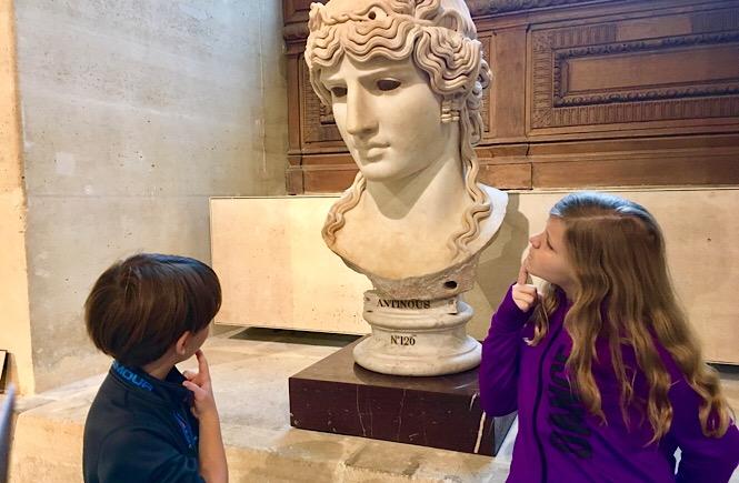 Kids world travel reviews Paris at the Louvre