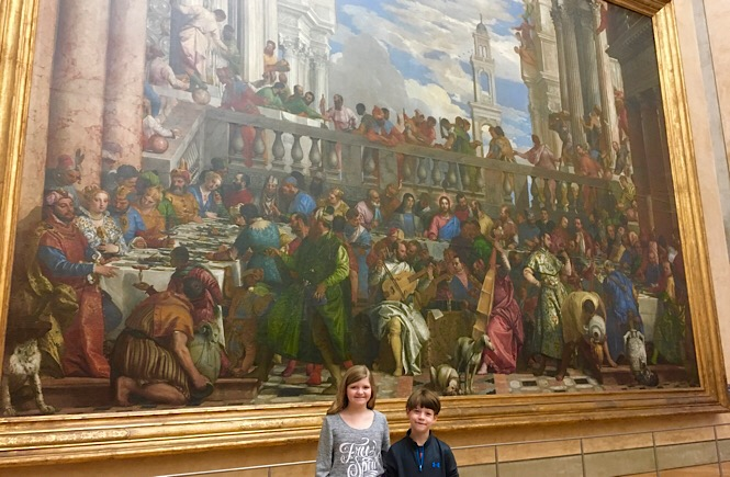 Large paintings at The Louvre Paris France