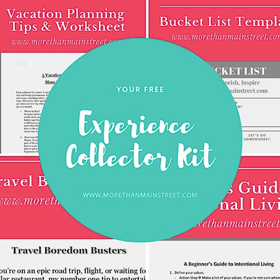 Wanting more from life? Grab our Experience Collector Kit featured by top US travel and lifestyle blog, More than Main Street.