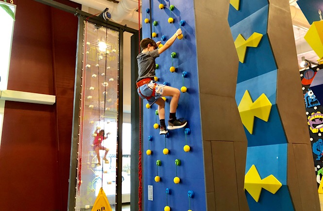 Discover the 10+ Best Things to Do in Rocky Mount NC as featured by top NC family travel blog, More than Main Street; Rocky Mount Event Center Climbing Wall