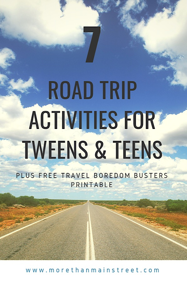 The Best Things to Do on a Road Trip for Tweens & Teens featured by top US family blog, More Than Main Street