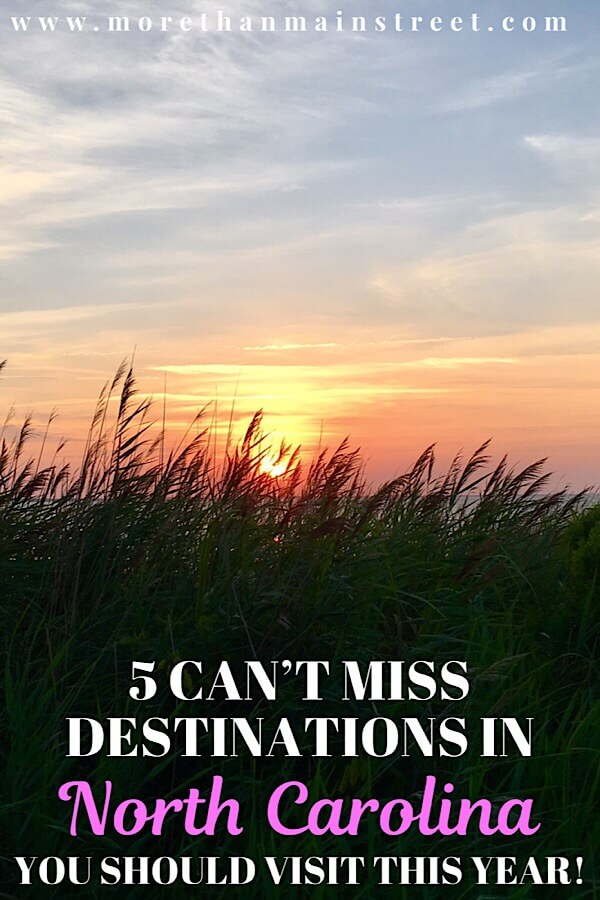 5 Weekend Getaways in NC for Family featured by top NC travel blog, More Than Main Street: NC beach sunset.