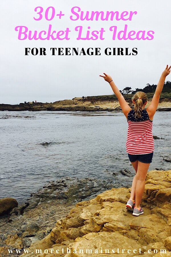 A Complete summer bucket list for teens featured by top US family travel blog, More Than Main Street: image of Girl by the water in Big Sur California.