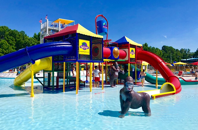 Jungle Rapids Family Fun Park review featured by top NC family travel blog, More Than Main Street
