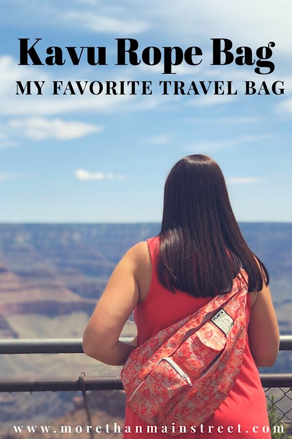 The KAVU rope sling bag review from top travel and lifestyle blog, More than Main Street.