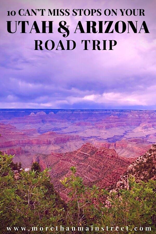 Top US family travel blog, More than Main Street, shares the ultimate 2 week Utah Arizona road trip itinerary; Grand Canyon National Park