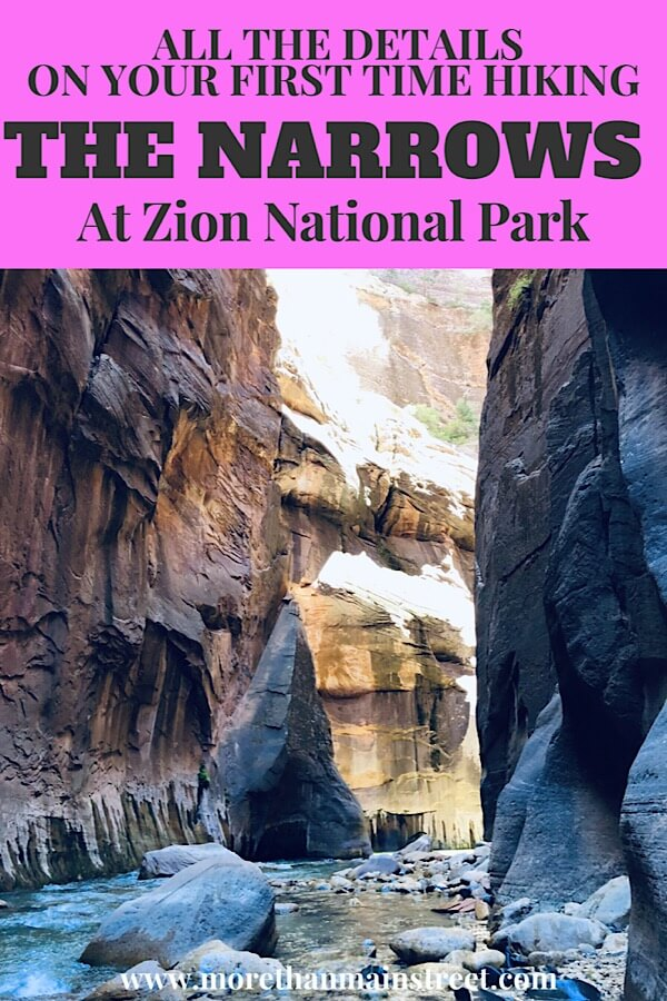 Zion Narrows Day Hike: Top tips you Need to Know Before You Go as featured by top US travel blog, More than Main Street.