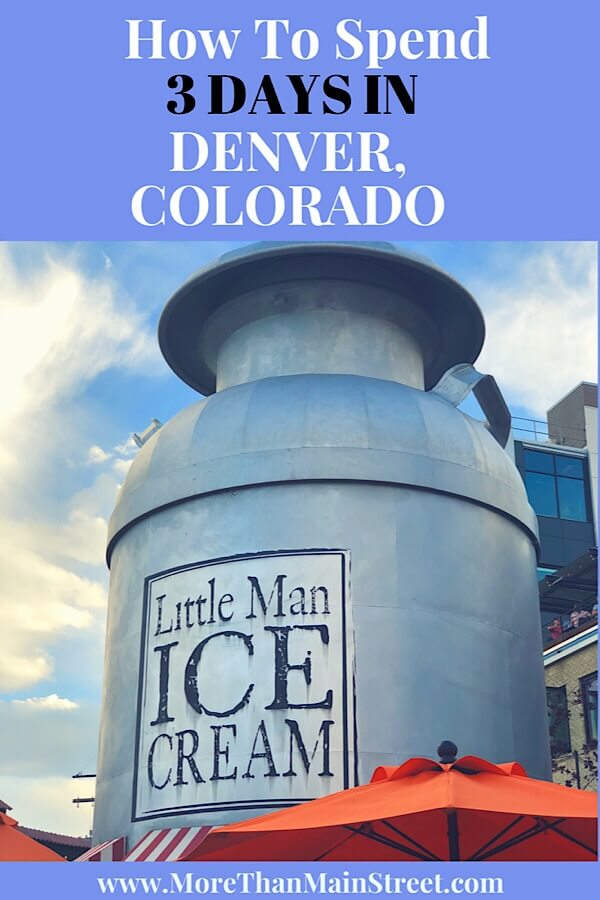 The Ultimate Denver Itinerary featured by top US family travel blog, More Than Main Street:  little man ice cream in Denver Colorado
