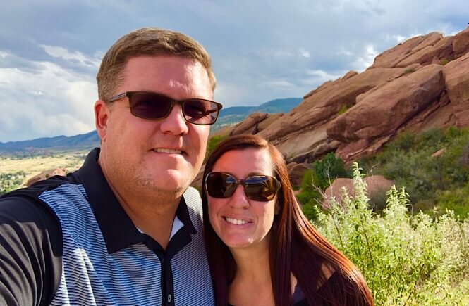 The Ultimate Denver Itinerary featured by top US family travel blog, More Than Main Street: Couple at Red Rocks Amphitheater