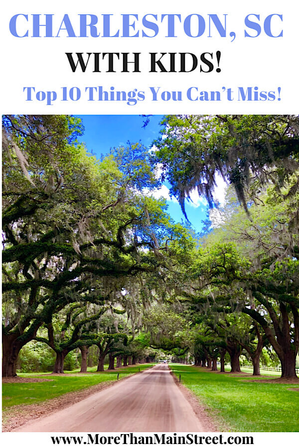 Top 10 Best things to do in Charleston SC with kids, tips featured by top US travel blog, More Than Main Street.