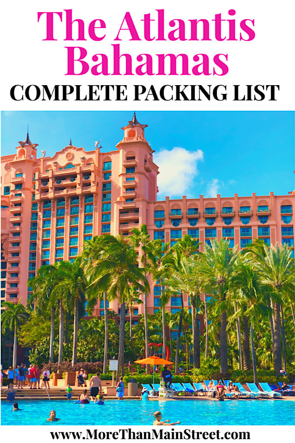 What to Bring to Atlantis for your Family Vacation, packing essentials featured by top US travel blog, More Than Main Street.