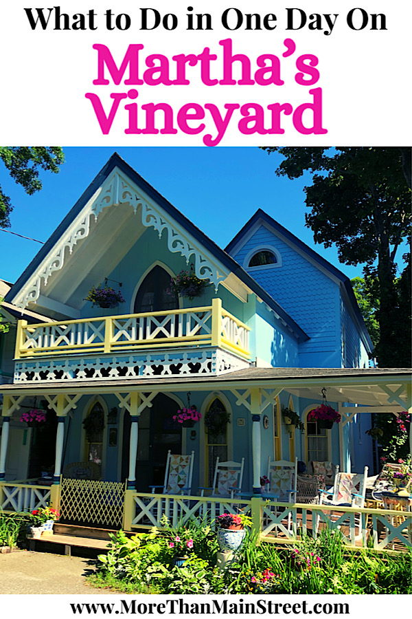 Top ten things to do on a day trip to Martha's Vineyard from Falmouth MA featured by US family travel blog, More than Main Street.
