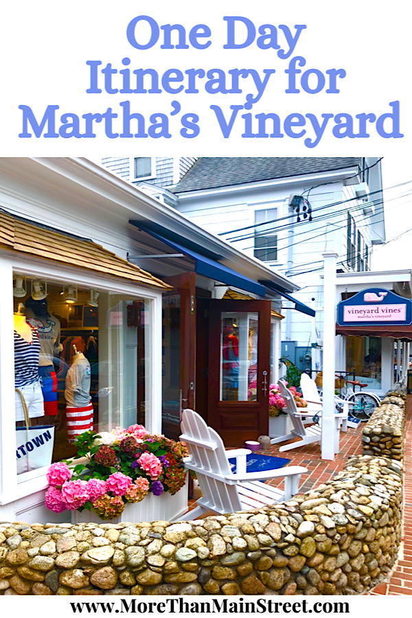 Top ten things to do on a day trip to Martha's Vineyard from Falmouth as featured by US family travel blog, More than Main Street.