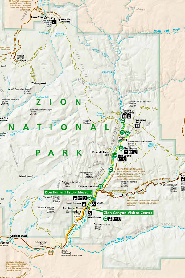 How to spend one day in Zion National Park: a travel guide featuring the top things to do by top US travel blog, More than Main Street: Map