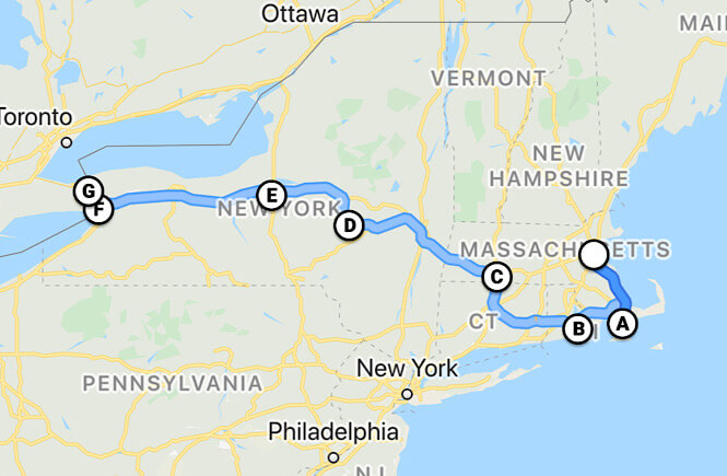 Boston to Niagara Falls road trip itinerary featured by top US family travel blog, More than Main Street.
