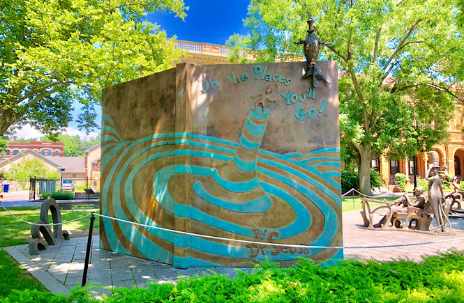 Boston to Niagara Falls road trip itinerary featured by top US family travel blog, More than Main Street: image of The Dr. Seuss Museum.