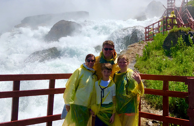 Boston to Niagara Falls road trip itinerary featured by top US family travel blog, More than Main Street: image of Cave of the Winds attraction .