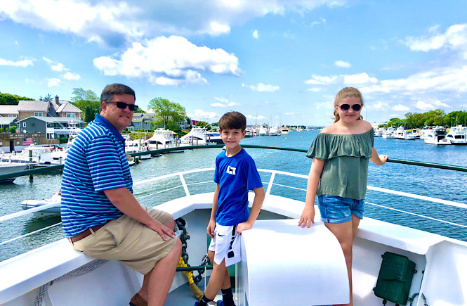 Top ten things to do on a day trip to Martha's Vineyard from Falmouth featured by US family travel blog, More than Main Street; ferry ride on the Island Queen.
