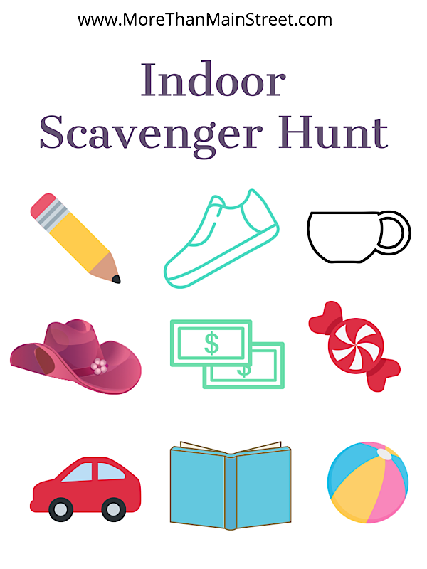 Top 10 Stay At Home Adventures for Your Family featured by top lifestyle and US travel blog, More than Main Street: scavenger hunt for toddlers.