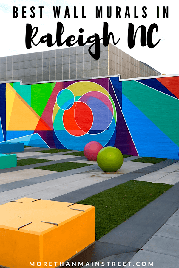 Top 10 Raleigh NC Murals to Visit with your Family featured by top US travel blog More than Main Street; Color pop wall at Marbles Kids Museum.