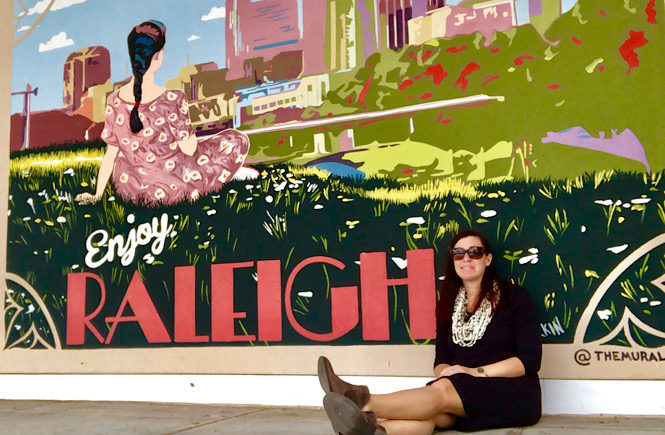 Enjoy Raleigh mural in North HIlls- The top 10 best Raleigh NC street art featured by top NC travel blog More than Main Street.
