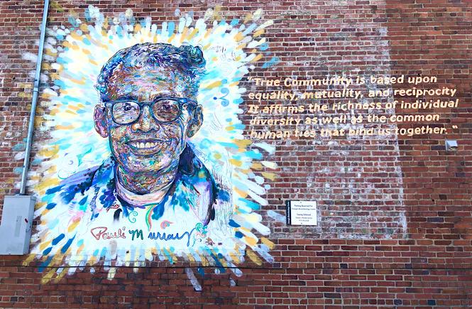 Must See Durham NC Wall Murals & Street Art featured by local NC travel blog, More than Main Street- Pauli Murray mural.