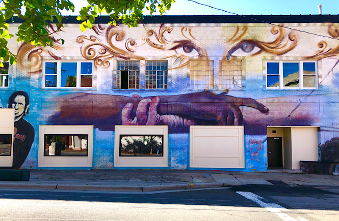 Must See Durham NC Wall Murals & Street Art featured by local NC travel blog, More than Main Street- Two Way Bridges Mural.