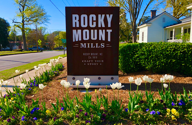 Rocky Mount Mills are one of the best day trips from Raleigh in NC featured by top NC travel blog, More than Main Street.