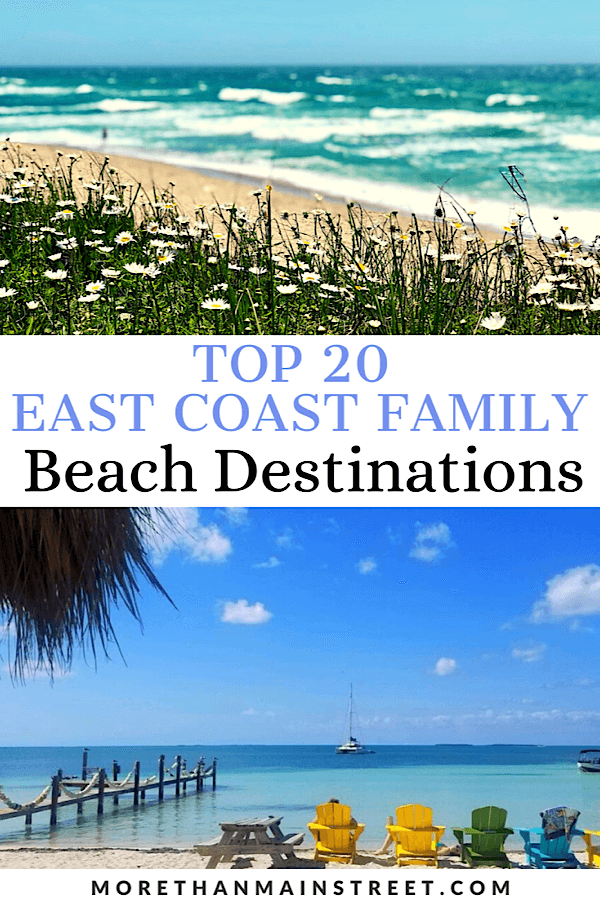 20+ Best Family Beaches on the East Coast featured by top US family travel blog, More than Main Street.