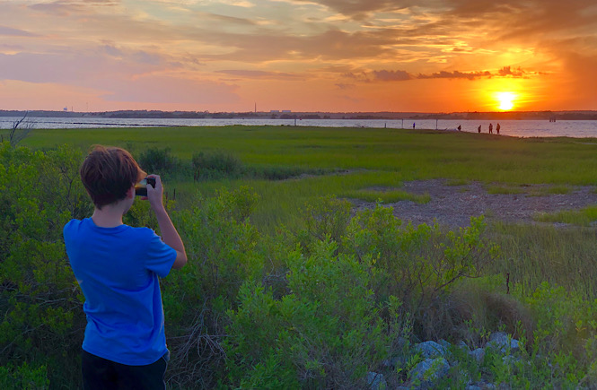 Fort Fisher is one of the Top 5 Best Places to Watch the Sunset in Wilmington NC featured by top US travel blog, More than Main Street.
