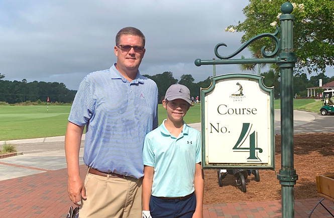 Top 10 Best Things to Do in Pinehurst North Carolina on Your Next Family Vacation featured by top US travel blog, More than Main Street: image of father and son playing Course No. 4 at Pinehurst.