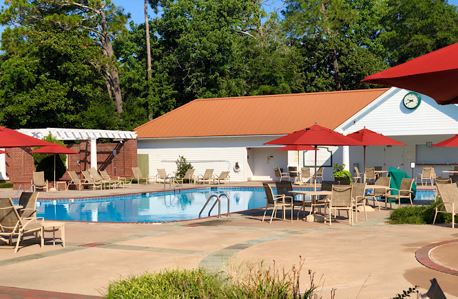 Top 10 Best Things to Do in Pinehurst North Carolina on Your Next Family Vacation featured by top US travel blog, More than Main Street: image of pool at the Carolina Hotel.