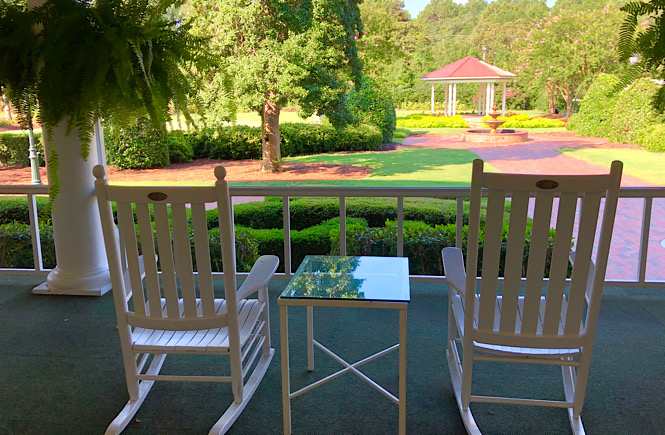 Staying at the Carolina Hotel is one of the best things to do at the PInehurst Resort- relax on the huge front porch in these rocking chairs!