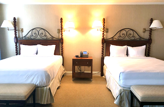 Top 10 Best Things to Do in Pinehurst North Carolina on Your Next Family Vacation featured by top US travel blog, More than Main Street: image of room at the Carolina Hotel.