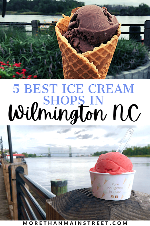Best places to get ice cream in Wilmington NC featured by top US family travel blog, More than Main Street.