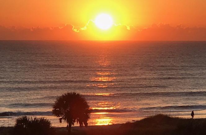 sunset in Amelia Island Florida