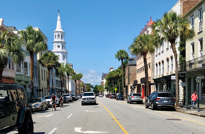 The streets of Charleston South Carolina while on vacation in December
