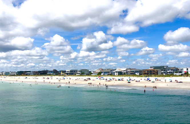 Clouds on a beautiful summer day at Wrightsville Beach North Carolina.