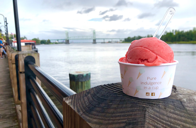 Best places to find Ice cream in Wilmington NC featured by top US family travel blog, More than Main Street.