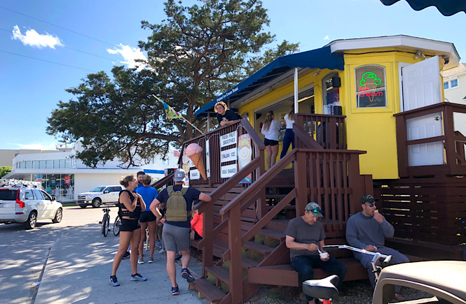 The Original Ice Cream Stand in Wrightsville Beach is the best place to grab an ice cream cone in the summer!