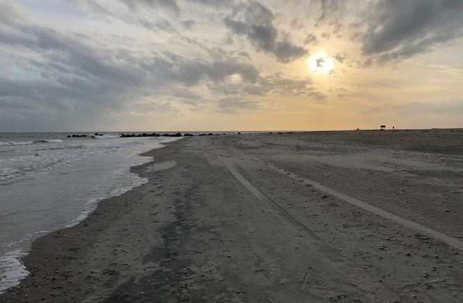 The beach in Beaufort North Carolina