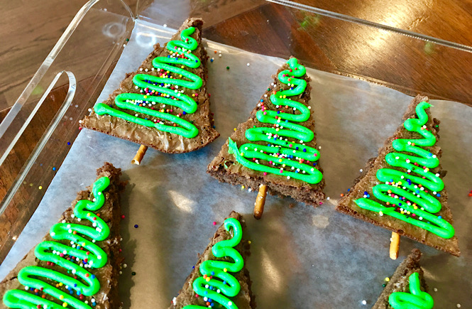 Christmas tree brownies are a simple and fun holiday tradition.