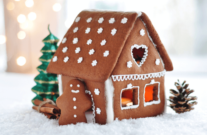 Making a gingerbread house should absolutely be on your winter bucket list!