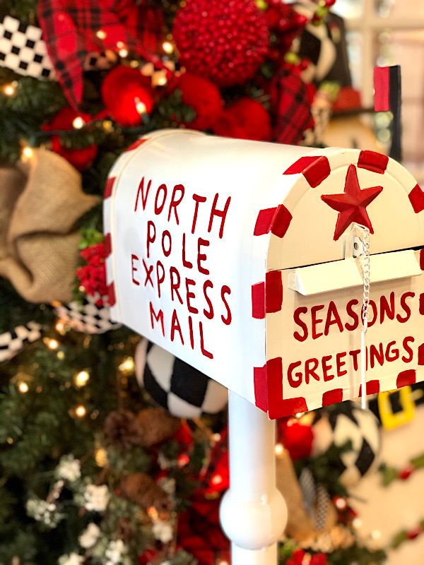 North pole express mail mailbox- make sure you send your letter to Santa!